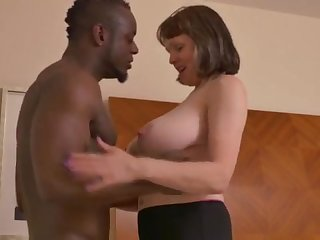 Big-Chested mature gal takes a huge dark-hued jizz-shotgun