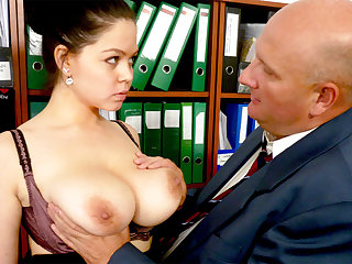 Boss made get rid of maroon with secretary's huge tits