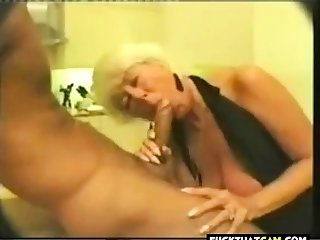 Old slut picked nearly and does a bj