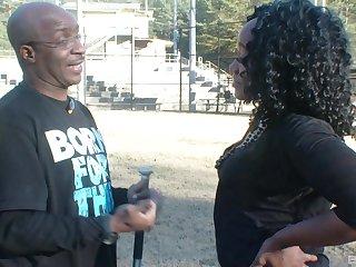 Mature ebony MILF Kitty B. pussy pounded by a big black dick
