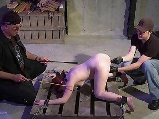 Master and his team up play with her asshole and pussy