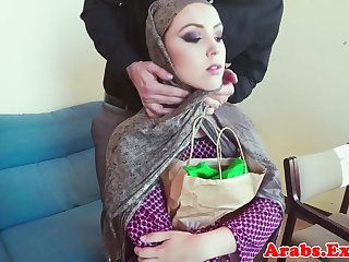 Muslim amateur fucks for cash together with tastes jizz