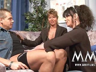 MMV Films Mature teacher having fun round a couple
