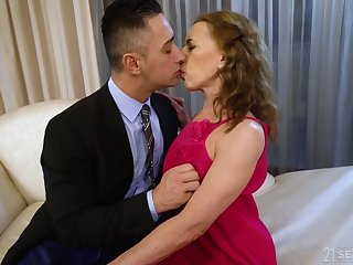 Whorable mature lady in pink dress Fidget with is fucked doggy rather unchanging