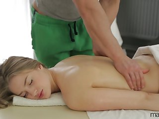 Natural cutie with sexy titties Milana Fox turns massage procure brutal sexual congress