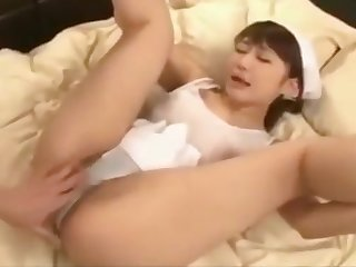 beauty asian maid going to bed with boss