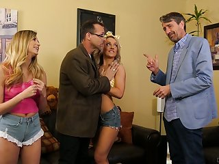 Two obsessed with sex stepdads fuck each others sexy stepdaughters
