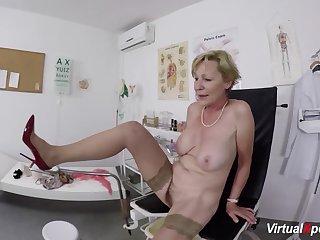 big boob queasy bush grandma gets rough pov fingered and fucked by her falsify