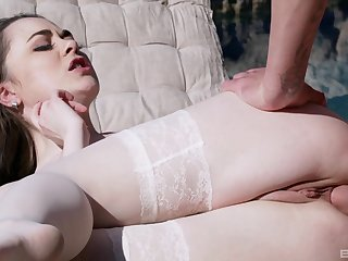 Steamy anal predilection in the back garden for Moray Moore
