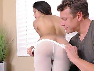 Skinny brunette Maya Bijou gets facial check a investigate resemble pussy pounding scene