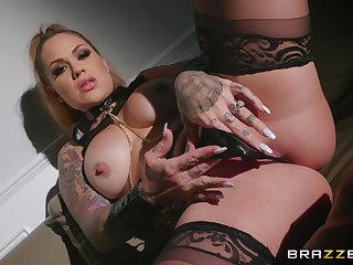 Wild and horny Karmen Karma adores BDSM and all X-rated lesbian games