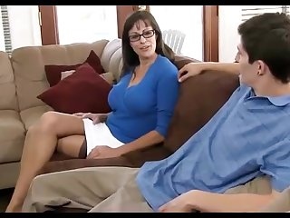 Dark haired mummy loves crippling ebony pantyhose, while hotwife on will not hear of spouse in the living apartment