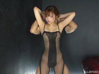 Mizukawa Sumire wearing nylon makes a handful of lucky guy burst
