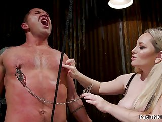 Toned male slave ass sex fisting femdom