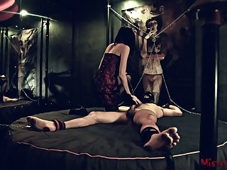 Femdom Nipple Torture of a chained starring role Sub - Mistress Kym