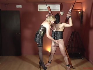 Femdom with a mature who wants prevalent hurt her male slave