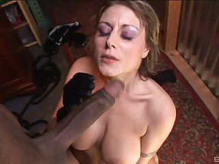 Mature Velicity Von feeds will not hear of shaved pussy with friend's long pecker