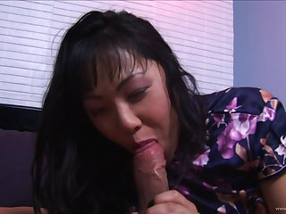 Hairy pussy asian gets her pussy fucked and anal penetrated in the tour