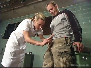 Busty perverted doctor Be at one treats poor coxcomb in a hard in the same manner