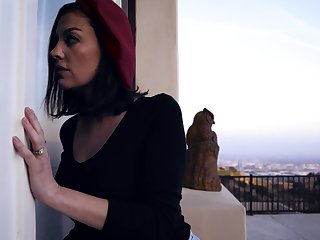 Hot MILF spying on will not hear of neighbor who turns out to be a TS domme