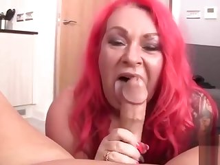 British Red Hair Big BBW Mature Milf - POV