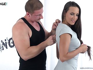 Despondent Czech model Mea Melone is fucked by one horny stranger
