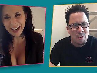 Dude chats on the webcam alongside a mature pornstar Joanna Posture
