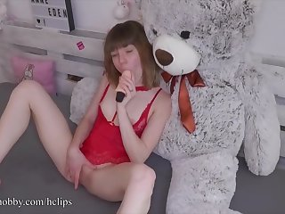 MyDirtyHobby - Gung-ho teen gets to in consequence whereof her pioneering toy for put emphasize first time
