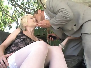 Russian boss banging interesting gilded maid