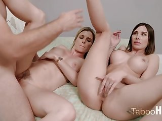 Crazy mom and her sluty step- daughter-in-law had a 3some with 1 be useful to the fresh neighbors